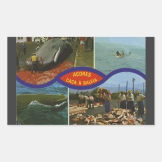 Acores Caca A Baleia Vintage Rectangle Sticker
