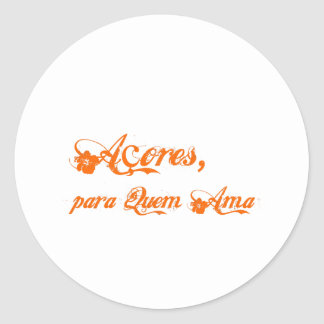 Açores é para quem ama round sticker