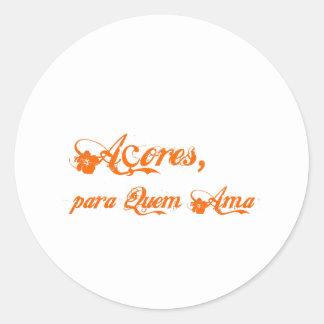 Açores é para quem ama round stickers