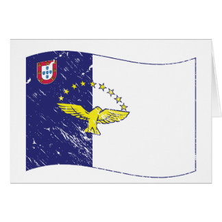 Acores flag greeting card