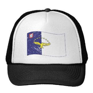 Acores flag trucker hat