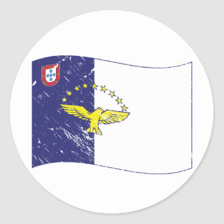 Acores flag round sticker