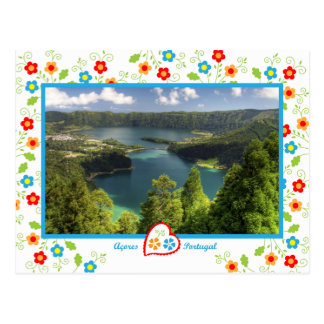 Açores Island - The legendary lagoon Postcard