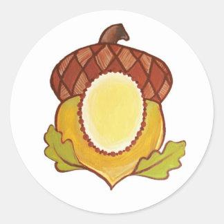 Acorn A Mighty Oak in Progress Round Sticker
