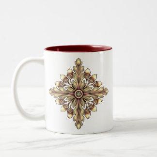 Acorn and Oakleaf Pentagram Cup
