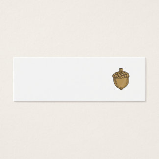 Acorn Drawing Mini Business Card