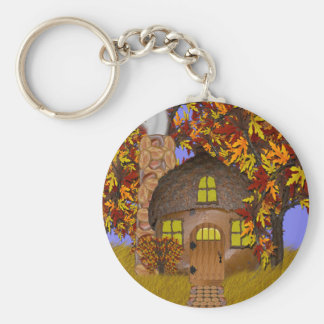 Acorn Faery Cottage Keychain