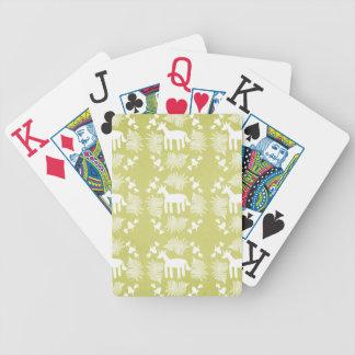 Acorn Fern Unicorn Bicycle Playing Cards