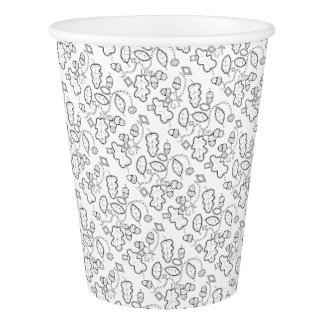 Acorn Gems Line Art Design Paper Cup