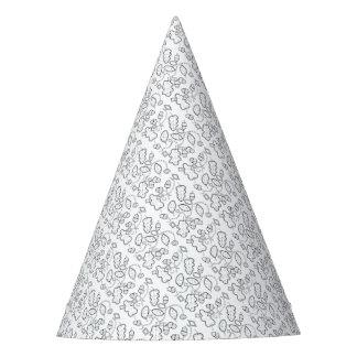 Acorn Gems Line Art Design Party Hat