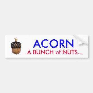 acorn_large, ACORN, A BUNCH of NUTS... Bumper Sticker