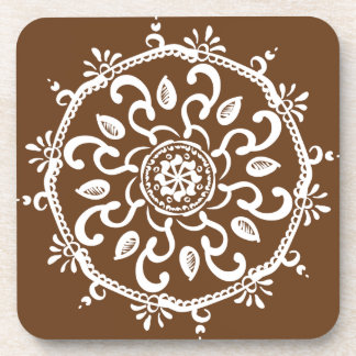 Acorn Mandala Coaster