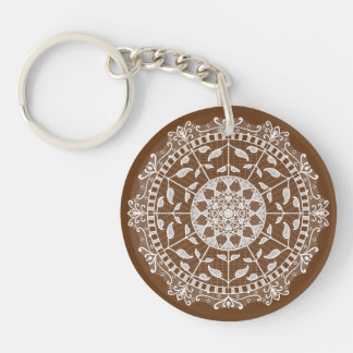 Acorn Mandala Key Ring