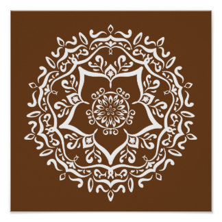 Acorn Mandala Poster