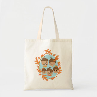 Acorn Nuclear Family Budget Tote Bag