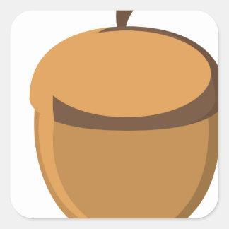 Acorn Square Sticker