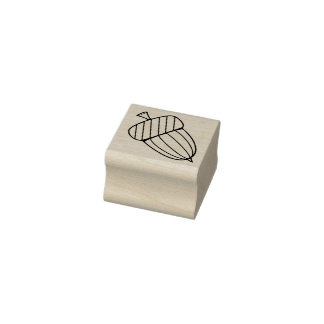 Acorn Two Rubber Stamp