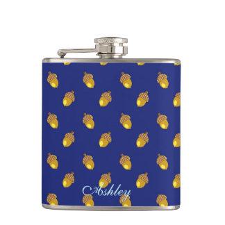 Acorns blue hip flask