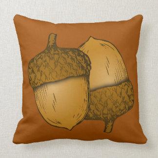 Acorns Square Throw Pillow