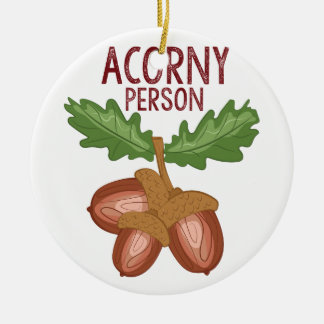Acorny Person Ceramic Ornament