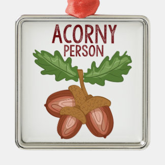 Acorny Person Metal Ornament