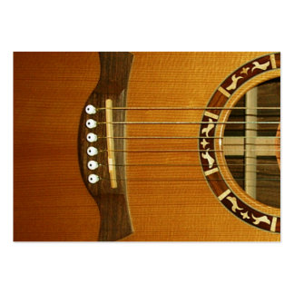 Acoustic 6 String Guitar Business Card Templates