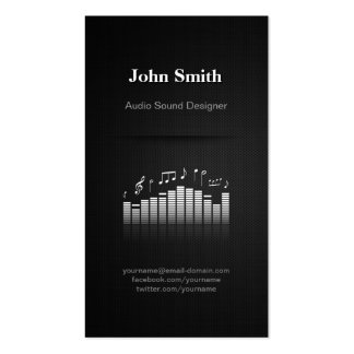 Acoustic Audio Sound Designer Engineer Director Pack Of Standard Business Cards