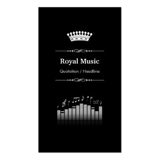 Acoustic Audio Sound - Professional Royal Crown Business Cards