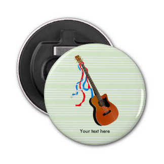 Acoustic Bass Guitar American Music Bottle Opener