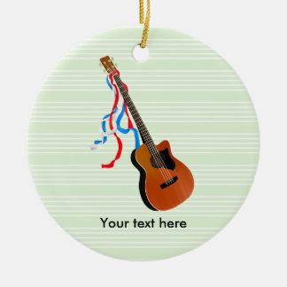 Acoustic Bass Guitar American Music Ceramic Ornament