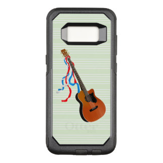 Acoustic Bass Guitar American Music OtterBox Commuter Samsung Galaxy S8 Case