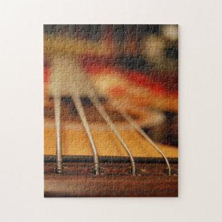 Acoustic bass guitar puzzle