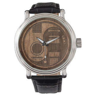 Acoustic Electric Guitars Yin Yang Wood Effect Watch