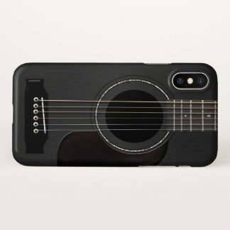 Acoustic Guitar Black iPhone X Case