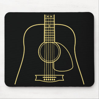 Acoustic Guitar Body Mouse Pad