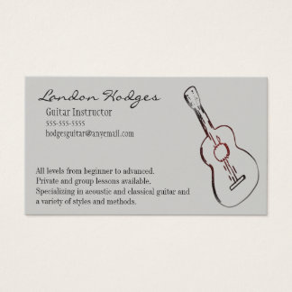 Acoustic Guitar Business Card Template