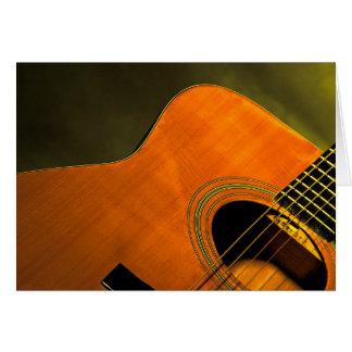 Acoustic guitar  card