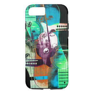 Acoustic guitar classic rock collage iPhone 7 case