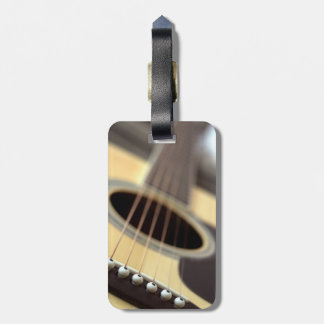 Acoustic guitar closeup photo luggage tag