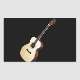 """Acoustic Guitar"" design gifts and products Rectangle Sticker"
