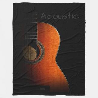 Acoustic Guitar Fleece Blanket