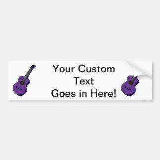 acoustic guitar graphic simple purple.png bumper sticker