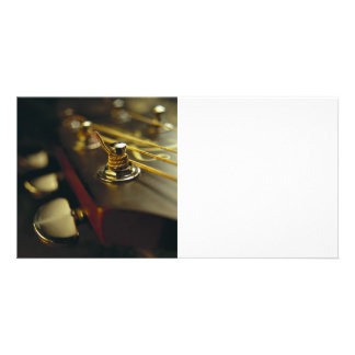 Acoustic Guitar Headstock Close-Up Personalised Photo Card