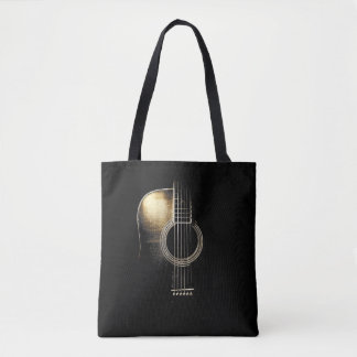 "Acoustic Guitar ""Highlight"" Tote Bag"