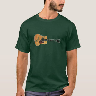 Acoustic Guitar horizontal (distressed) T-Shirt
