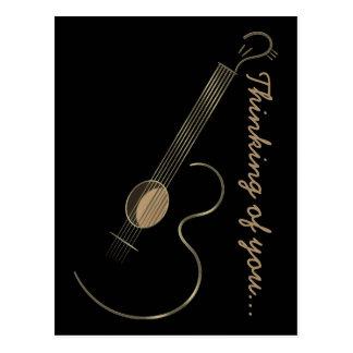 Acoustic Guitar Logo Postcard