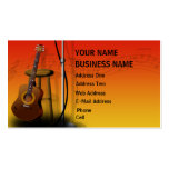 Acoustic Guitar - Music Business Card