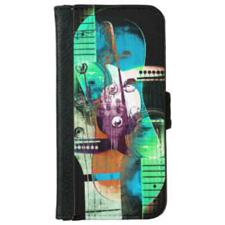 Acoustic guitar music collage iPhone 6 wallet case