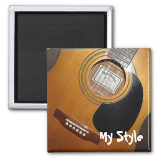 Acoustic Guitar - My Style Square Magnet