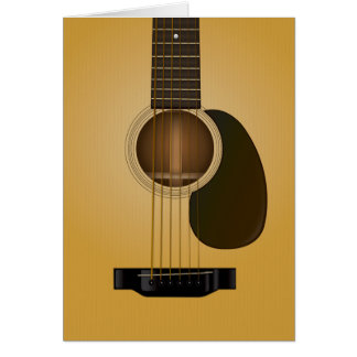 Acoustic guitar note card design